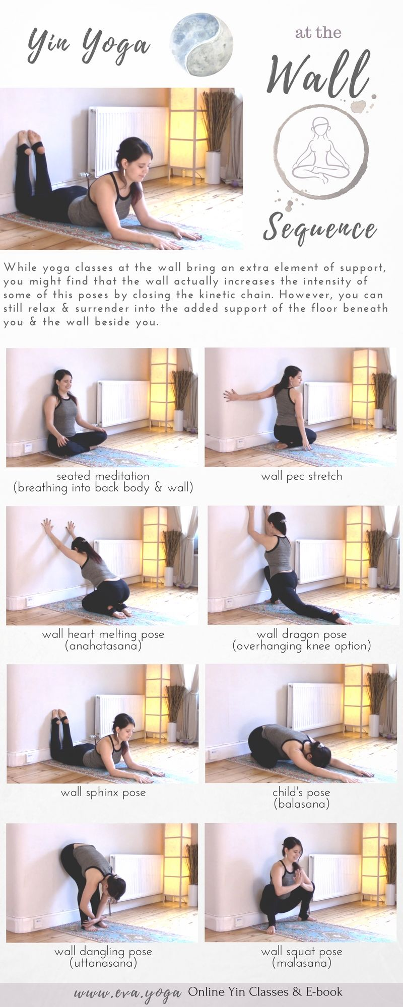 daily morning yoga routine #yogaworkouts  Yin yoga sequence, Easy