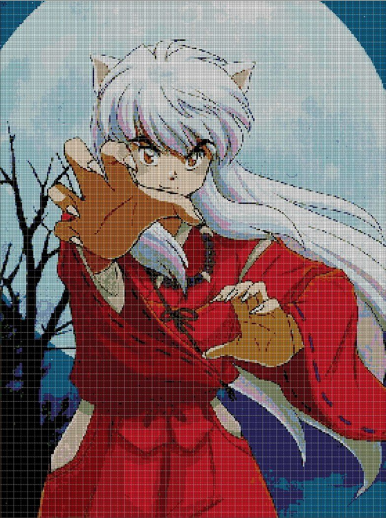 Inuyasha+anime+cross+stitch+pattern+in+pdf4 Cross stitch