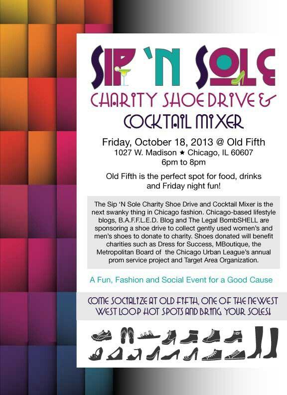 Sip \u0027N Sole Charity Shoe Drive -- Chicago fashion event SocialEyes