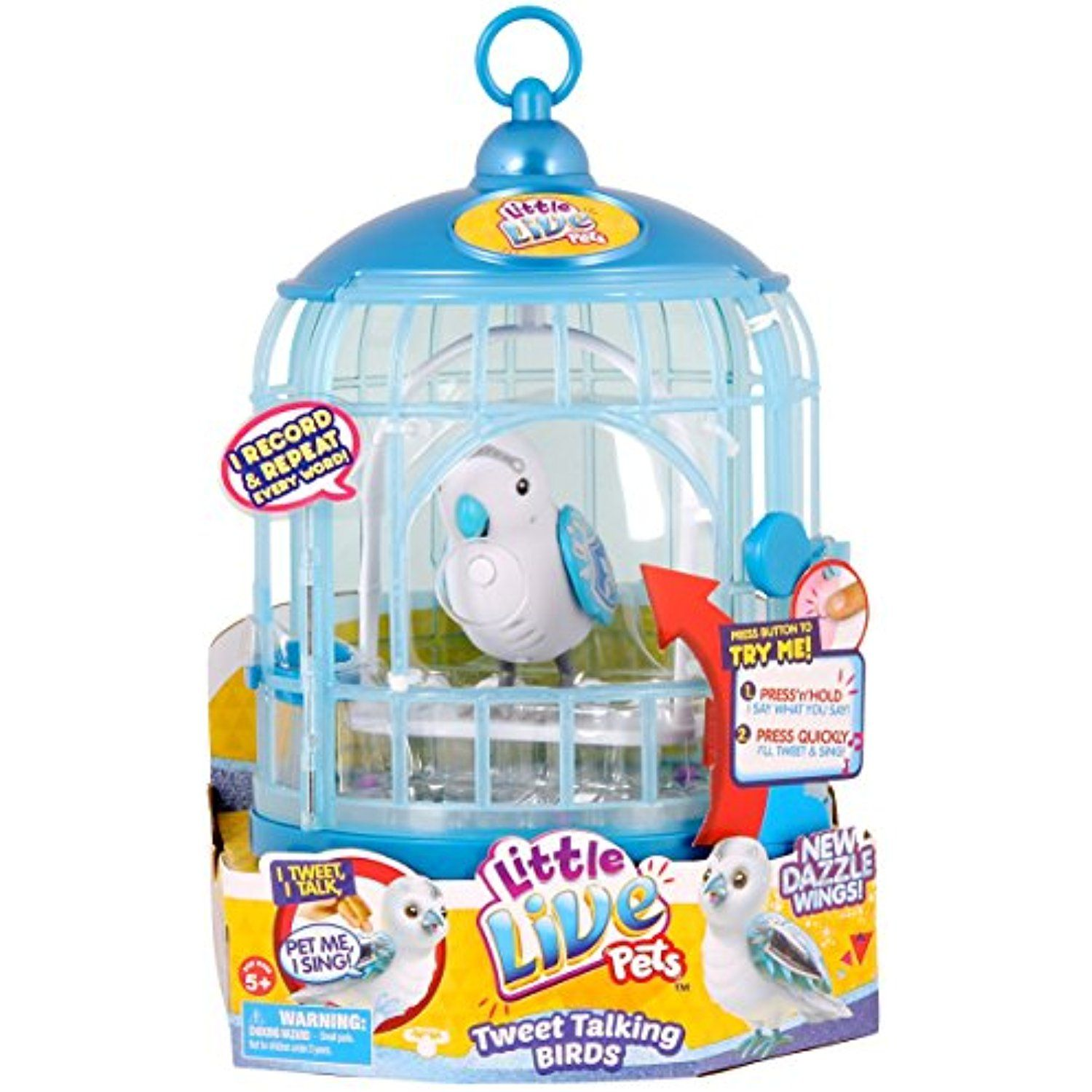 Little Live Pets Bird With Cage Prince Charmer Click Image