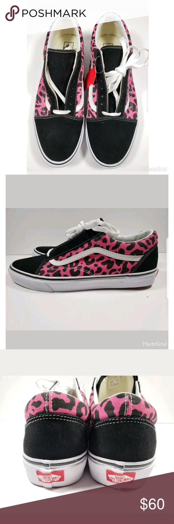 c1f52355e78 New Vans Old Skool Leopard Print Pink Black sz 13 New with tags Vans Old  Skool