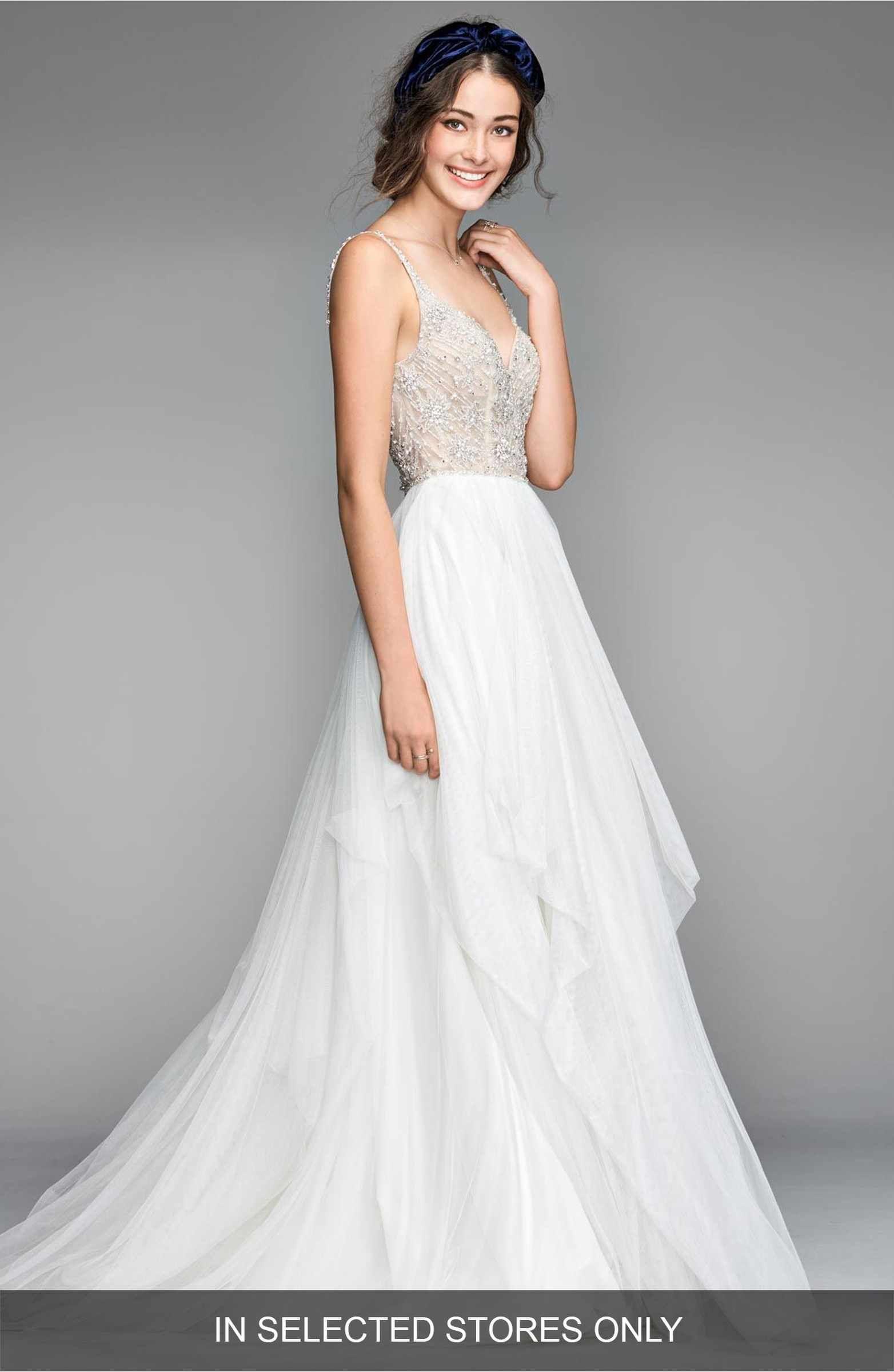 Main Image - Willowby Nova Beaded Bodice Tulle Gown | Love Love Love ...