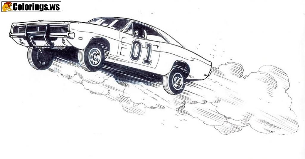 General Lee Car Coloring Pages Car Coloring Pages The