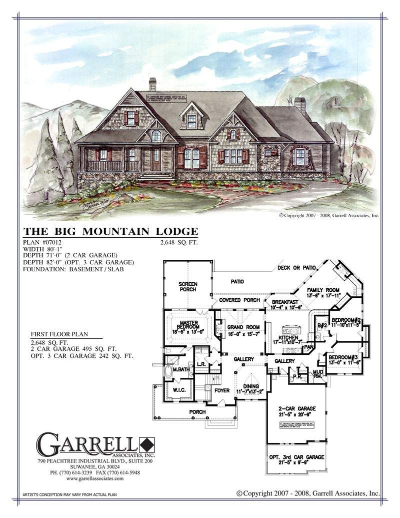 Big Mountain Lodge House Plan Lodge Style House Plans Mountain Lodge Rustic House Plans