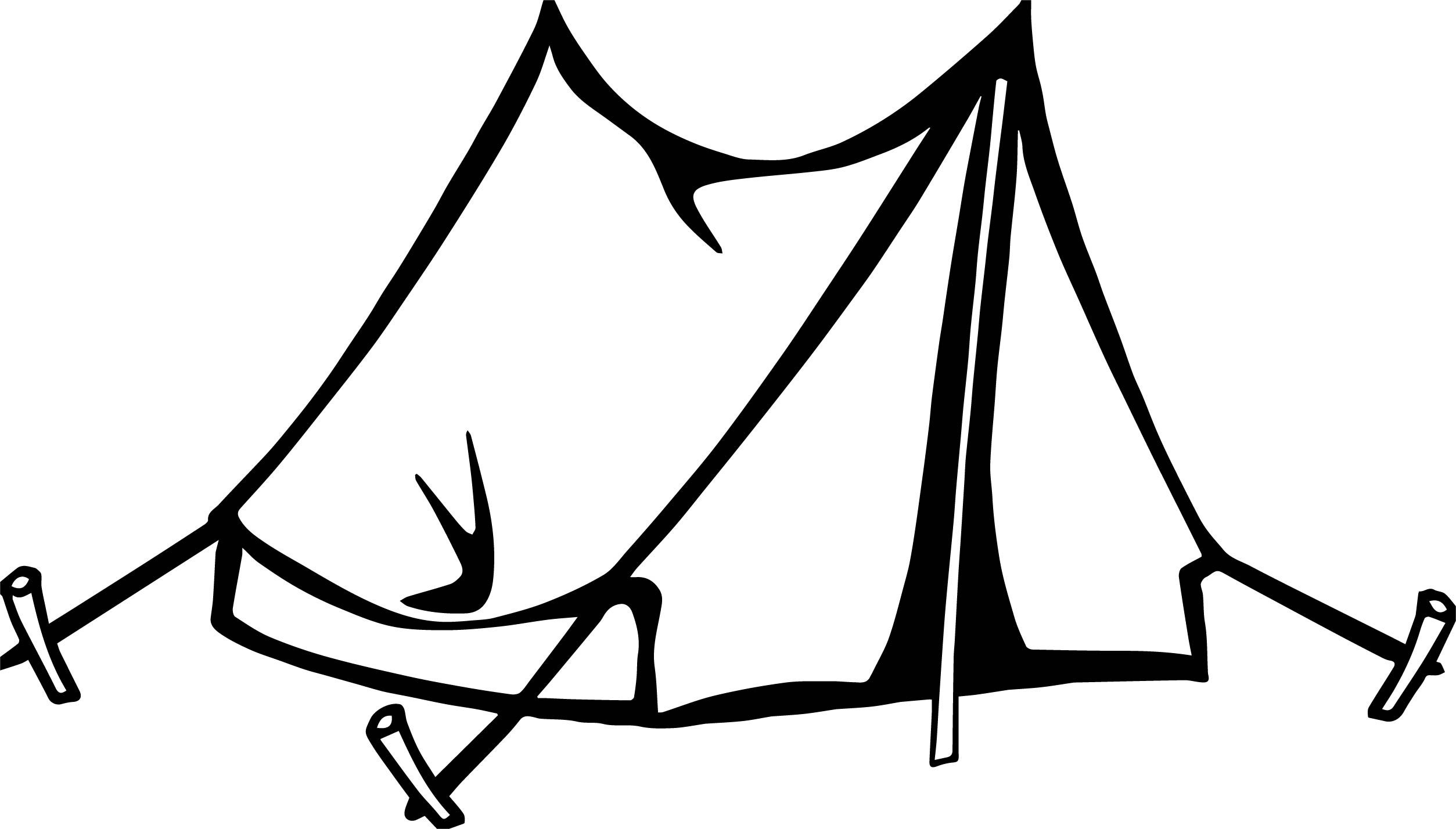 Awesome Simple Tent Camping Coloring Page