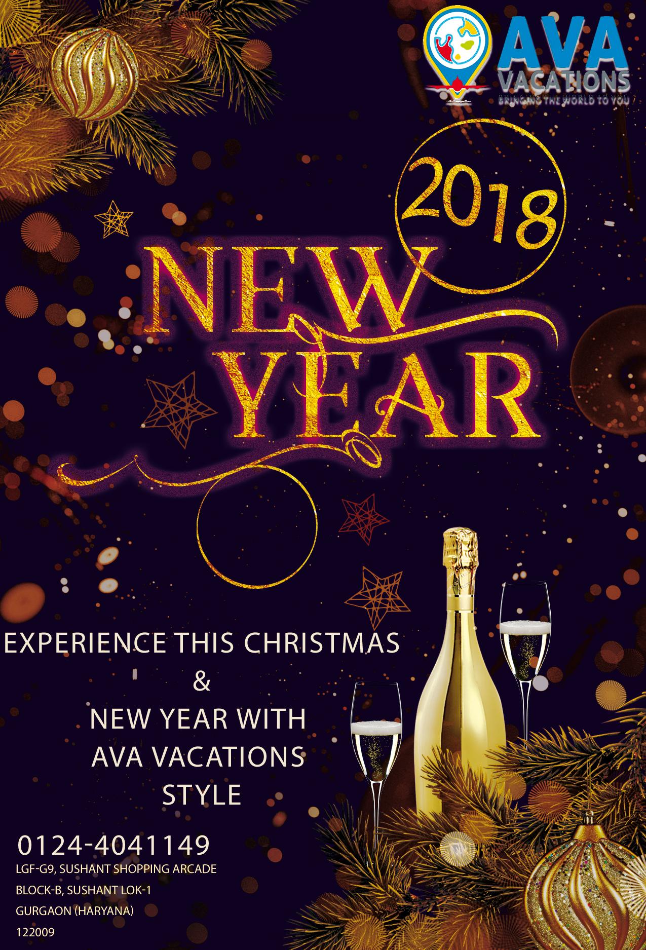Happy New Year AVA Vacations Pvt. Ltd. LGF-G9, Sushant ...