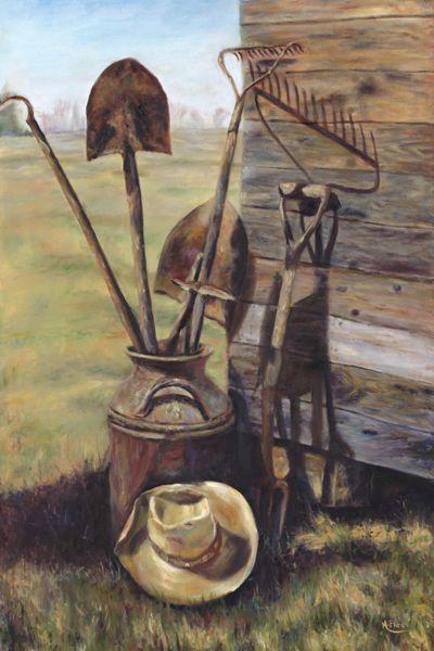 Gardening Tools By Maureen Flinn Still Life Farm Art Barn Art