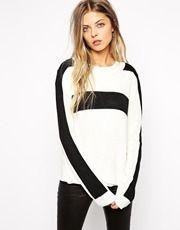 Vila Blocked Color Sweater