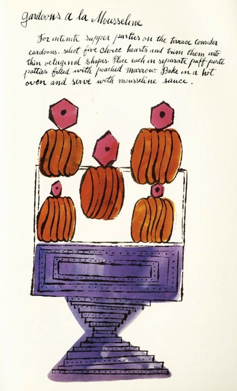 FANCIFUL RECIPES ILLUSTRATED BY A YOUNG ANDY WARHOL