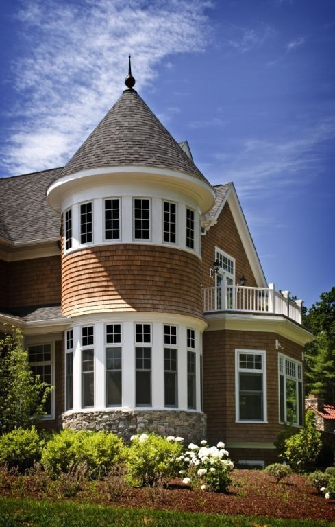 Shingle Style Homes Need Towers Preferably With Windows All The Way Around To Create Places To G Shingle Style Homes Shingle Style Shingle Style Architecture