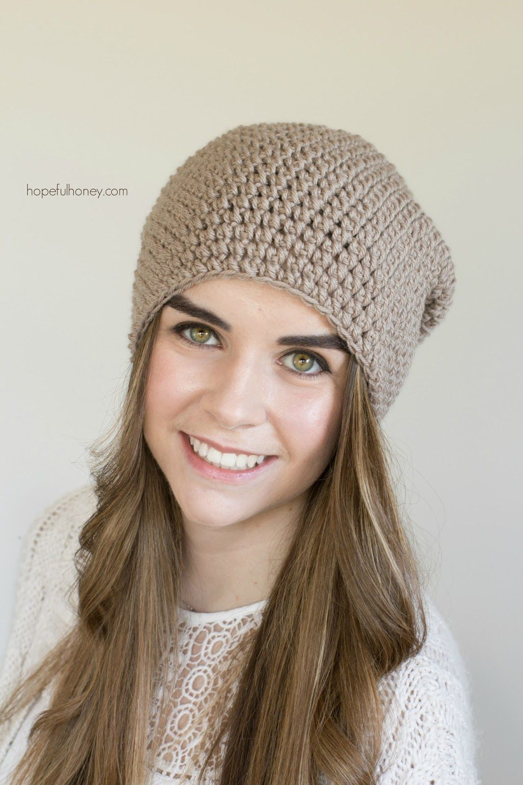 Toasted Wheat Slouchy Beanie - Free Crochet Pattern | Craft Ideas ...
