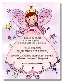 Fairy Invitation Wording