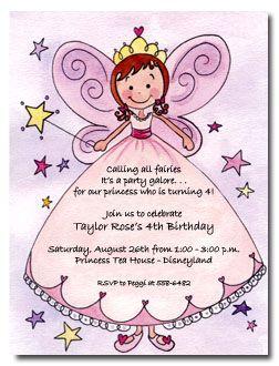 Fairy Invitation Wording Google Search Emily S 4th Bday