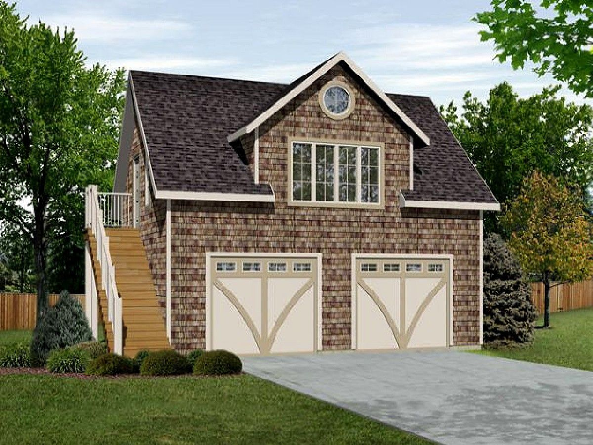 Plan 22115sl flexible garage apartment garage for Small house over garage plans