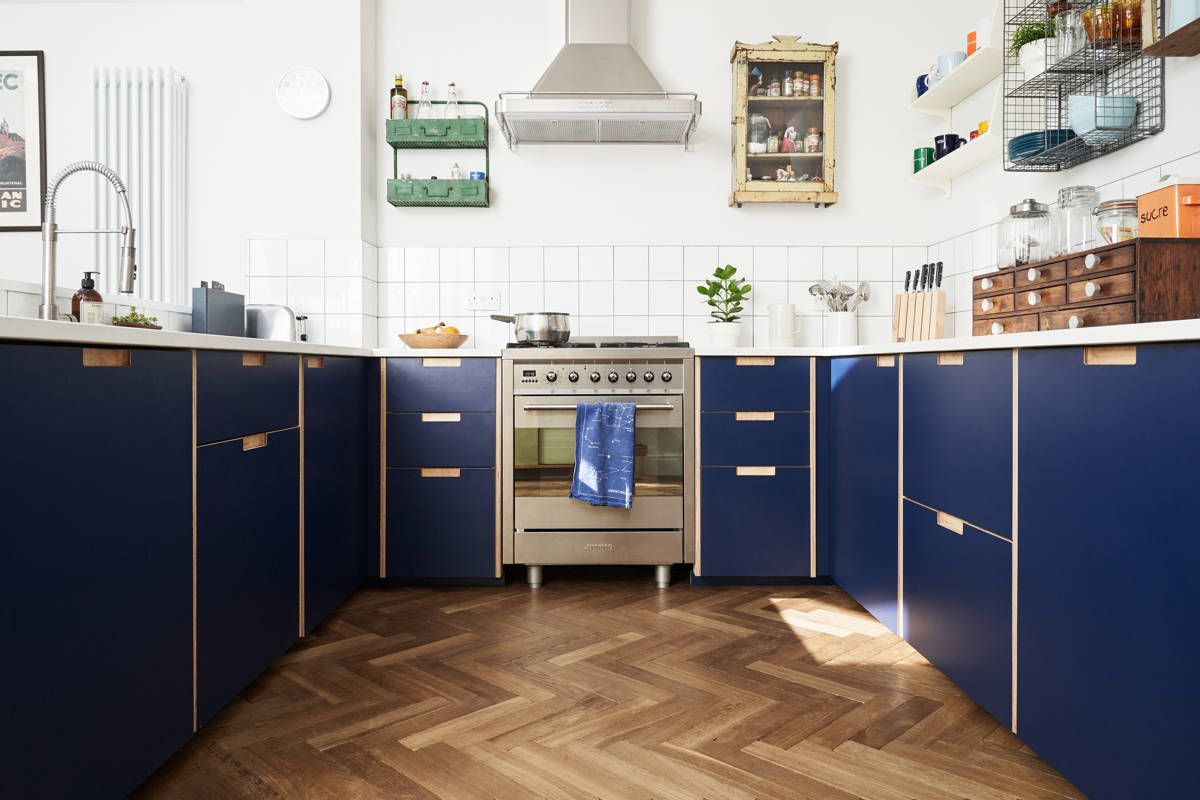 Formica Faced Plywood Kitchen In Navy Blue By Plykea In 2020 Kitchen Cabinets Ikea Kitchen Ikea Kitchen Cabinets