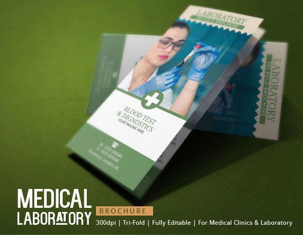 Medical Brochure Template - Blood Test Lab on Behance Lab - medical brochure template