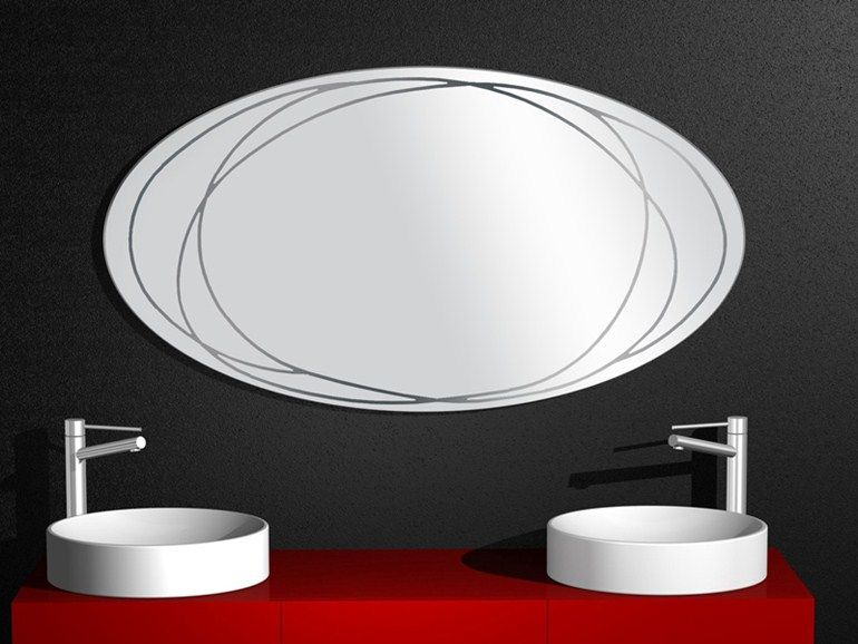 Bathroom mirror rally collection by regia design bruna rapisarda
