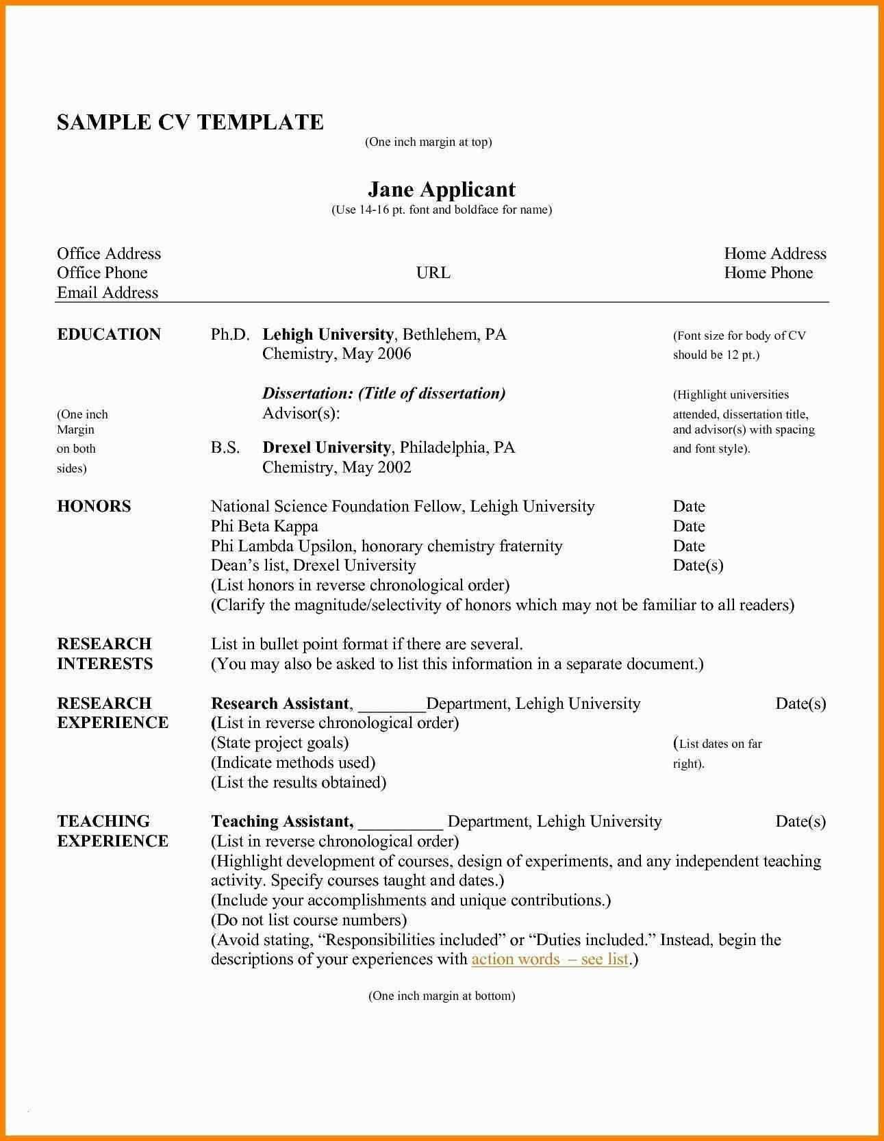 Spacing Resume Format Sample Resume Curriculum Vitae Examples