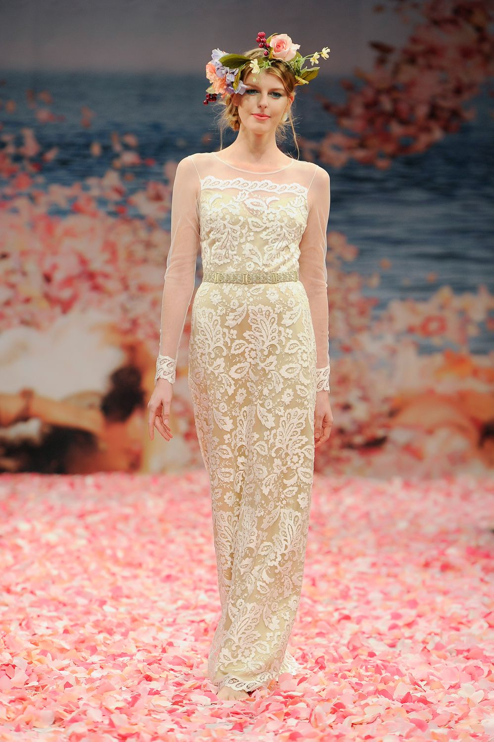 Ivory silk and lace wedding dress  Claire Pettibone  Couture Bridal l Wedding Dresses Bridal Gowns