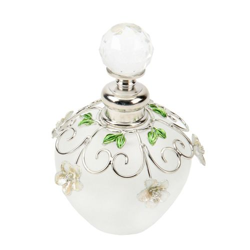 Wholesale Decorative Perfume Bottles Beautiful Wholesale Perfume Bottles  Glass Ivory Flowers Perfume