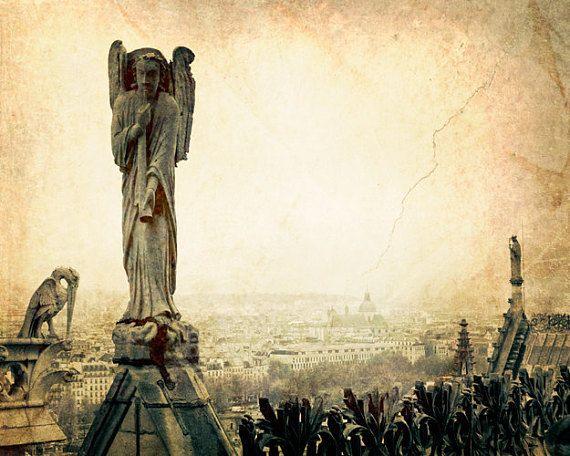 Notre Dame Sepia Paris Fine Art Photography Decor Old World