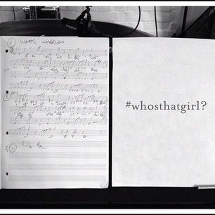 Down at the recording studio with #whosthatgirl? #tophop #christmas #music