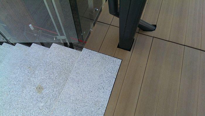Outdoor Plastic Wood Floor Covering Composite Anti Slip