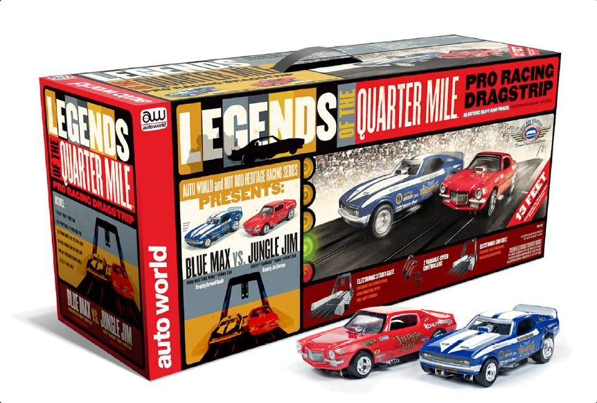 Aw Legends Of The 1 4 Mile Pro Racing Dragstrip Slot Car Drag Racing Slot Car Sets Slot Car Tracks