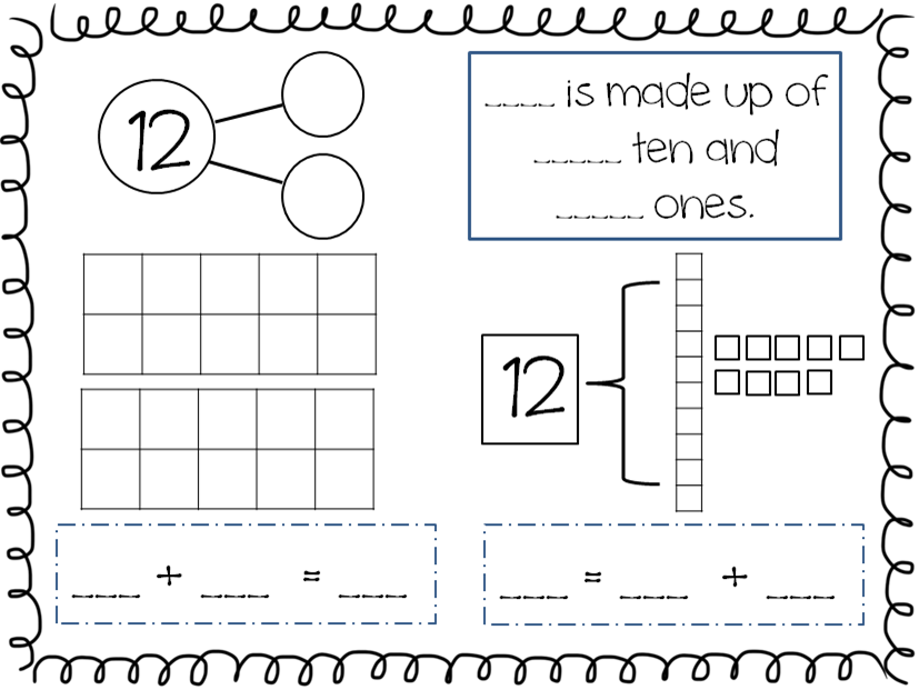 Compose and Decompose Numbers 1119 FREEBIE – Decomposing Numbers Worksheets