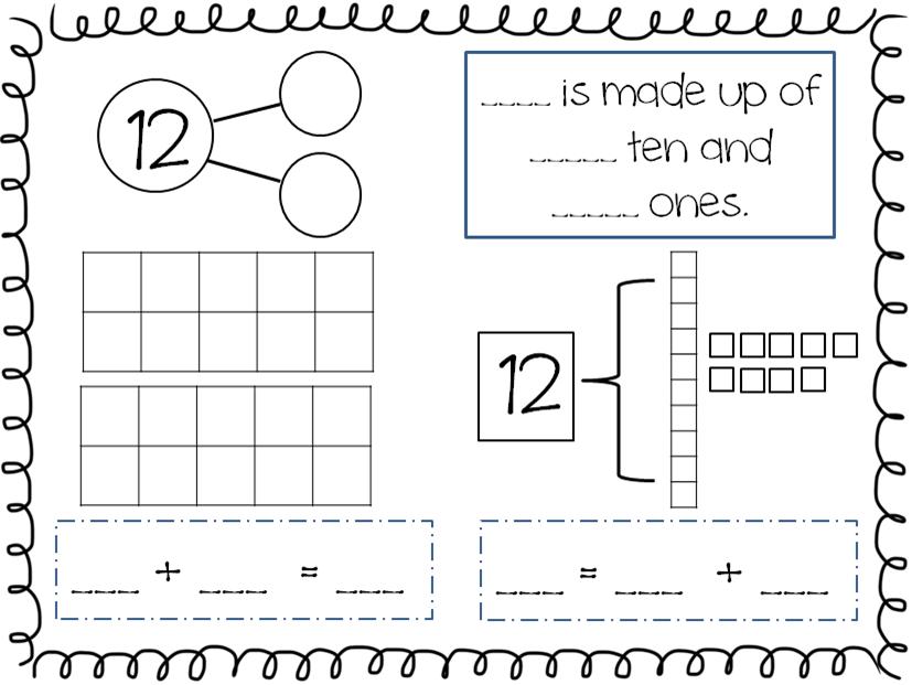 Compose and Decompose Numbers 11-19 FREEBIE | Kindergarten Math ...