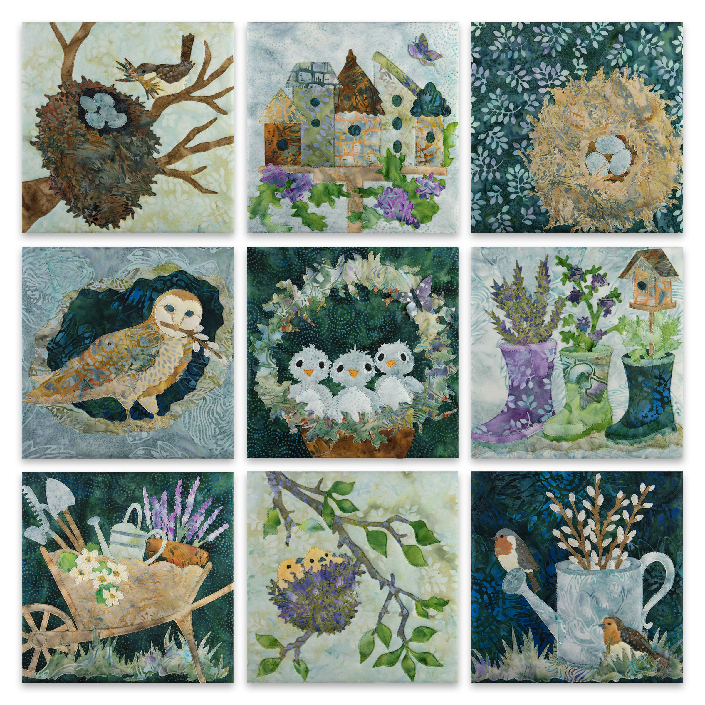 Nesting Quilt Kit Applique Patterns Landscape Art Quilts Quilts