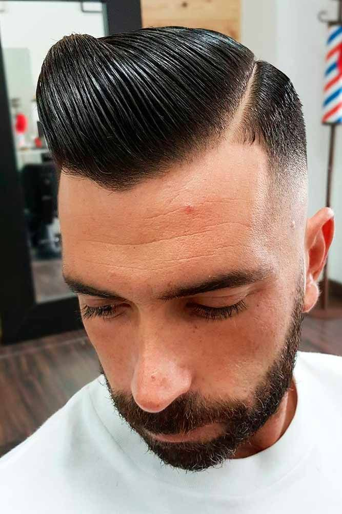 Opt For A Comb Over Haircut To Stay Up To Date Pomps Pinterest