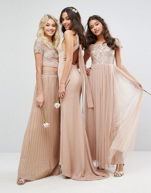 Beautifully Embellished Wedding Bridesmaid Dresses Love