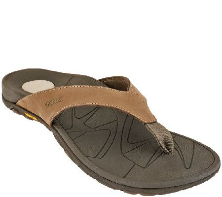 efba5452638a Vionic w  Orthaheel Men s Orthotic Leather Thong Sandals - Bryce