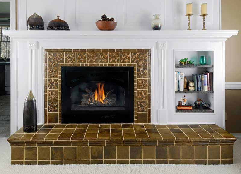 Decorative Tiles For Fireplace Craftsman Tile Makers  Fireplace Surrounds Craftsman Tile And