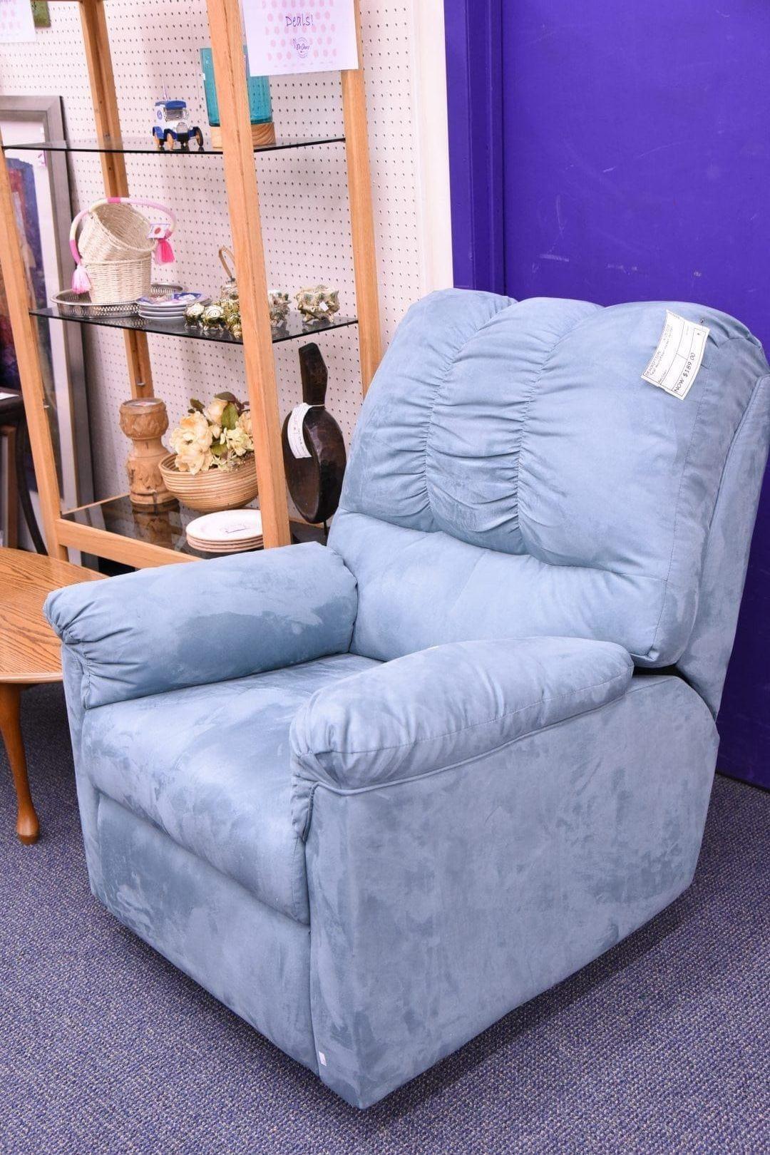 Best Blue Microfiber Recliner Home Decor Recliner Furniture 400 x 300