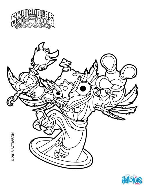 Coloriage Skylanders Swap Force Hootloop Jpg 500 646 Coloring