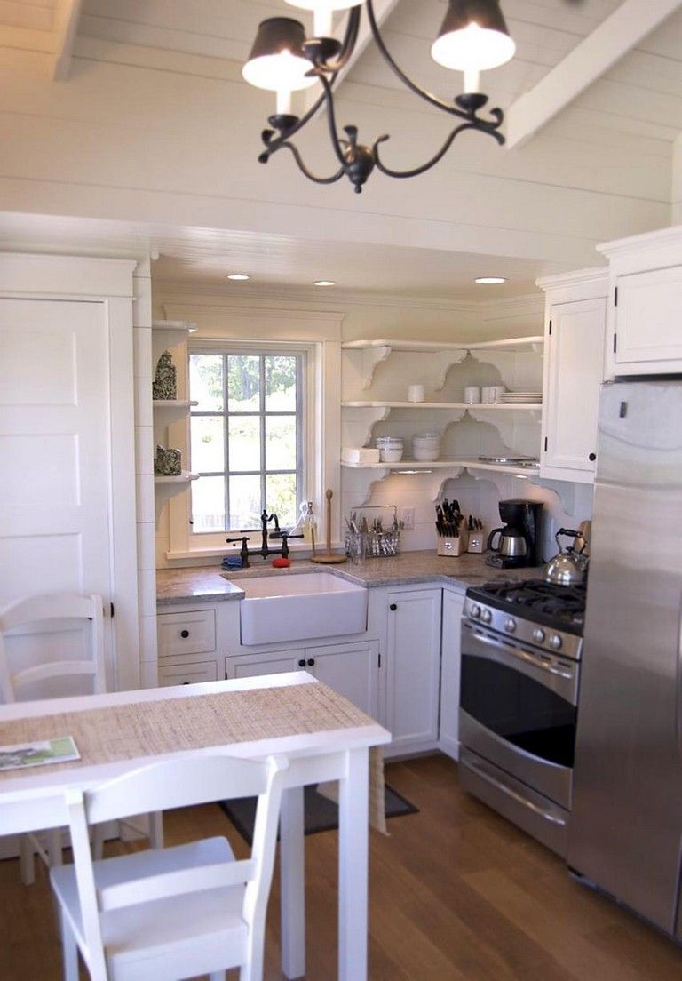 40 Stunning Small Cottage Kitchens Decorating Ideas Small