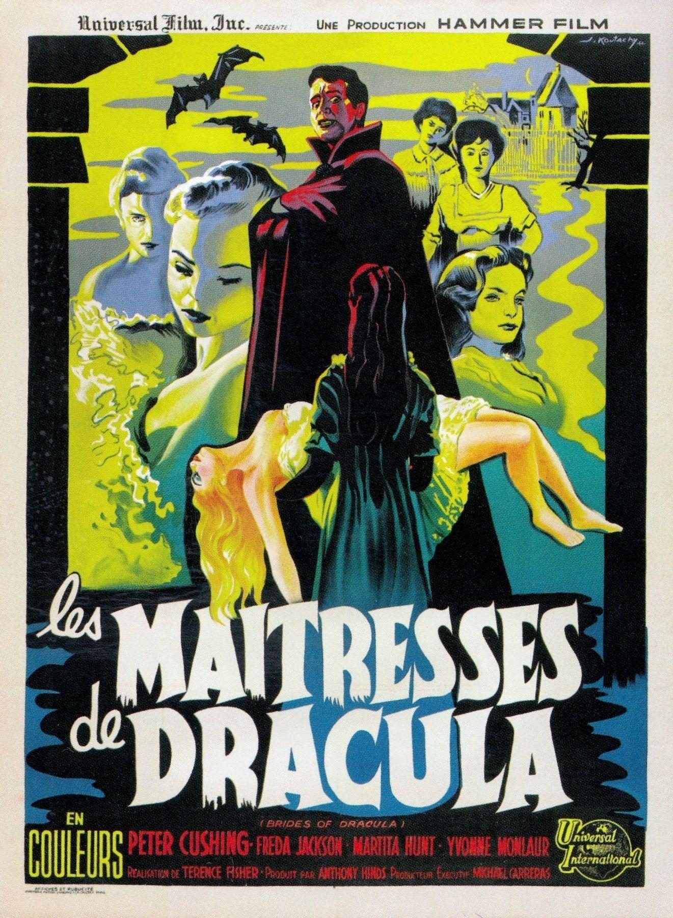 BRIDES OF DRACULA Movie Poster 1960 Vampires Horror Classic