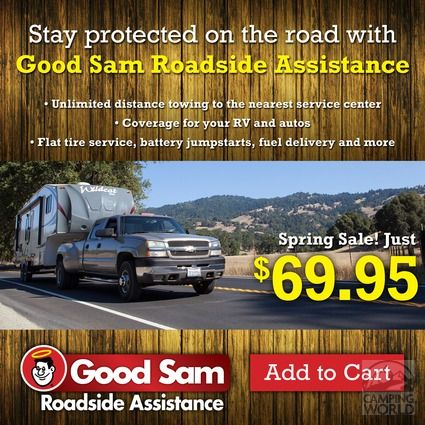 1 Year of Good Sam Roadside Assistance via camping world