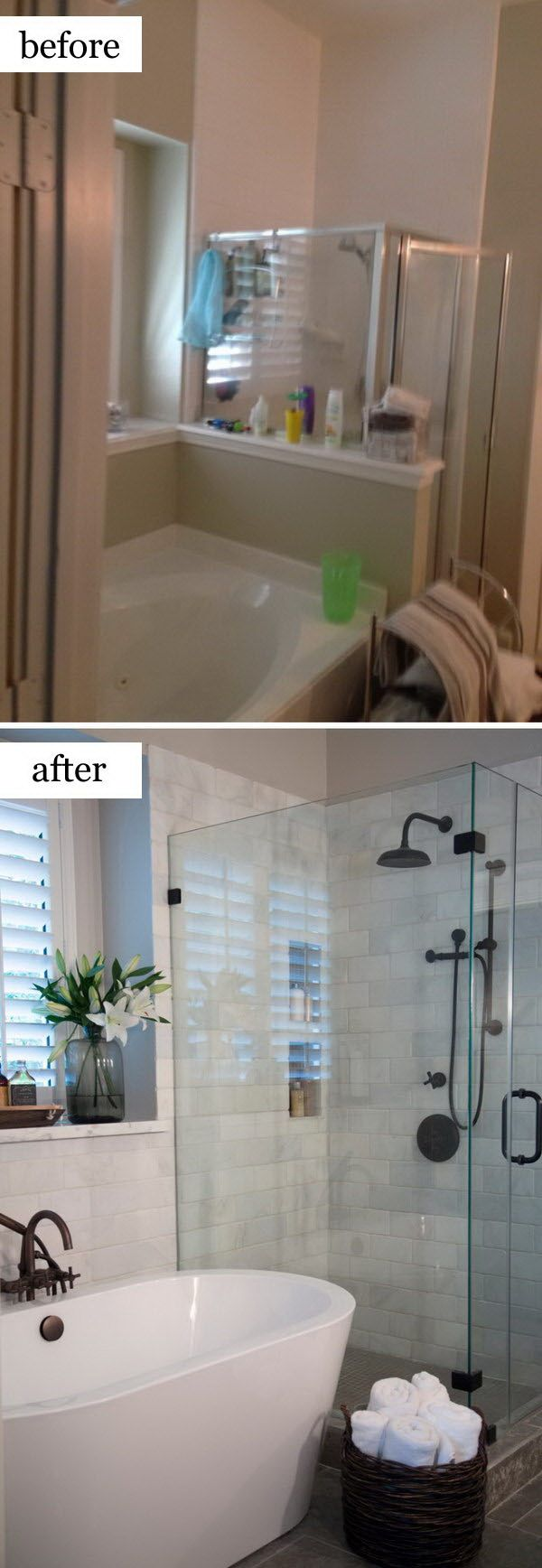 A Confined Bathroom Gets A Refreshing Beautiful Look Guest Bathroom Remodel Bathroom Remodel Shower Shower Remodel