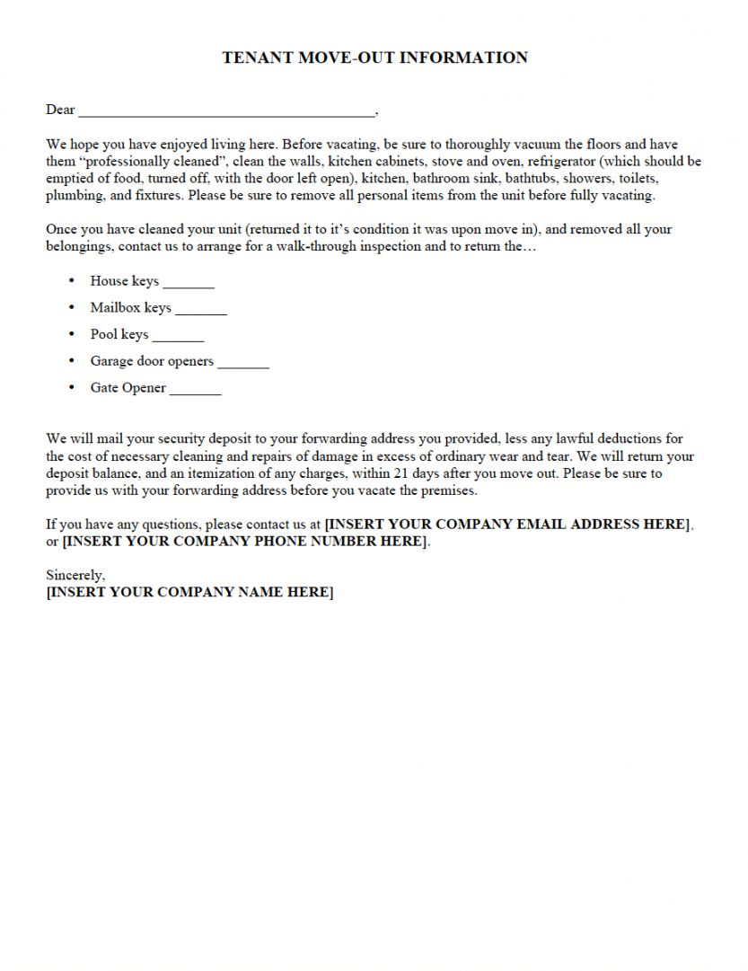Browse Our Sample Of Notice To Remove Personal Property Template Being A Landlord Tenants Rental Property Management