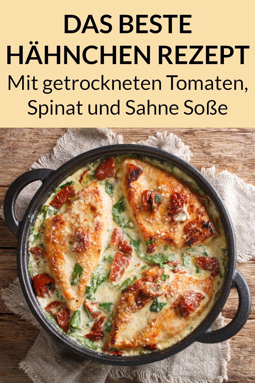 Toskana Sahne Hähnchen - Low Carb Abendessen zum Abnehmen