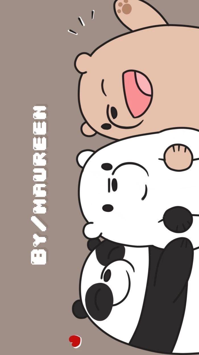 Pin Oleh Amelia M Di We Bare Bears Wallpaper Lucu Boneka Hewan Beruang Kutub