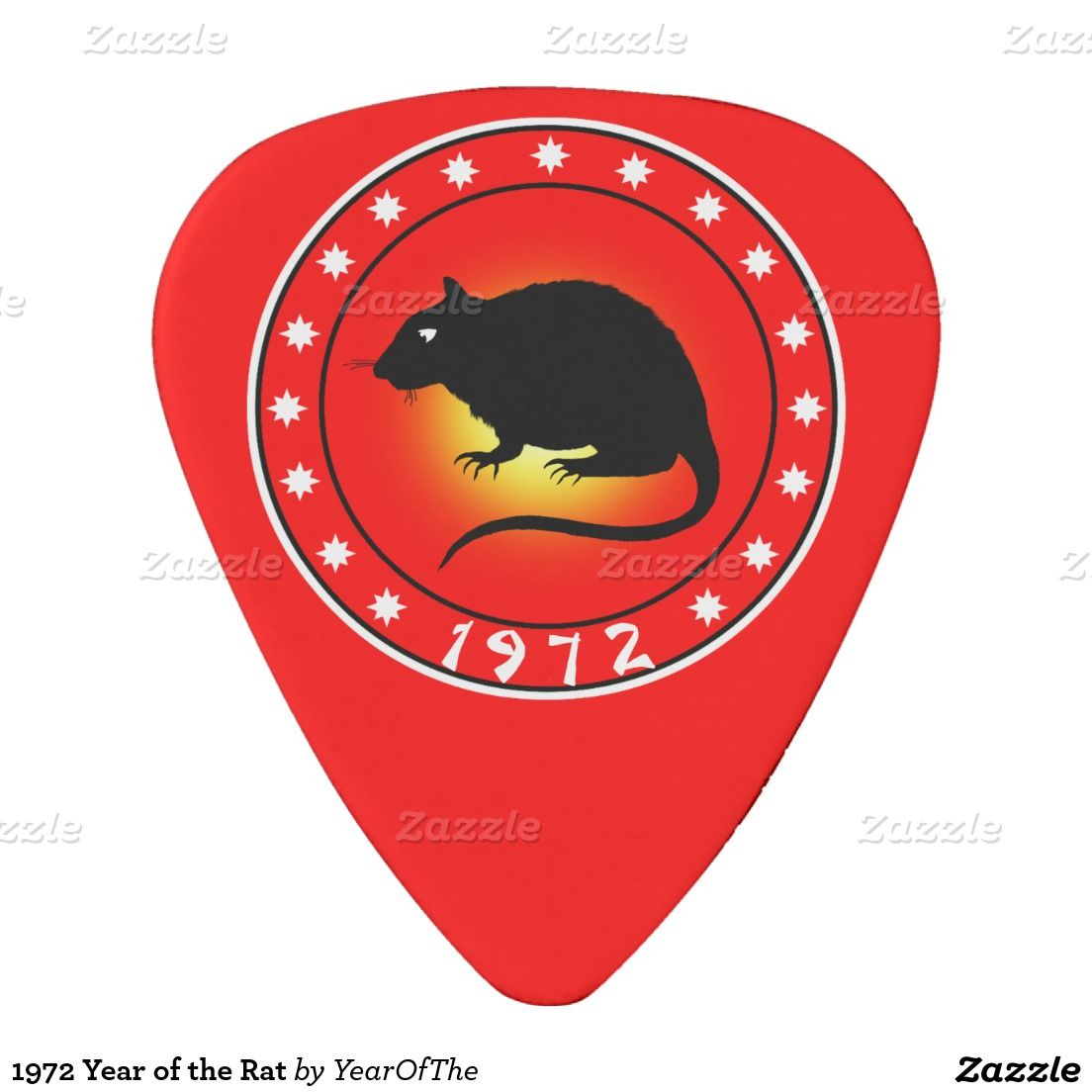 1972 Year Of The Rat Guitar Pick Guitar Picks And Rats