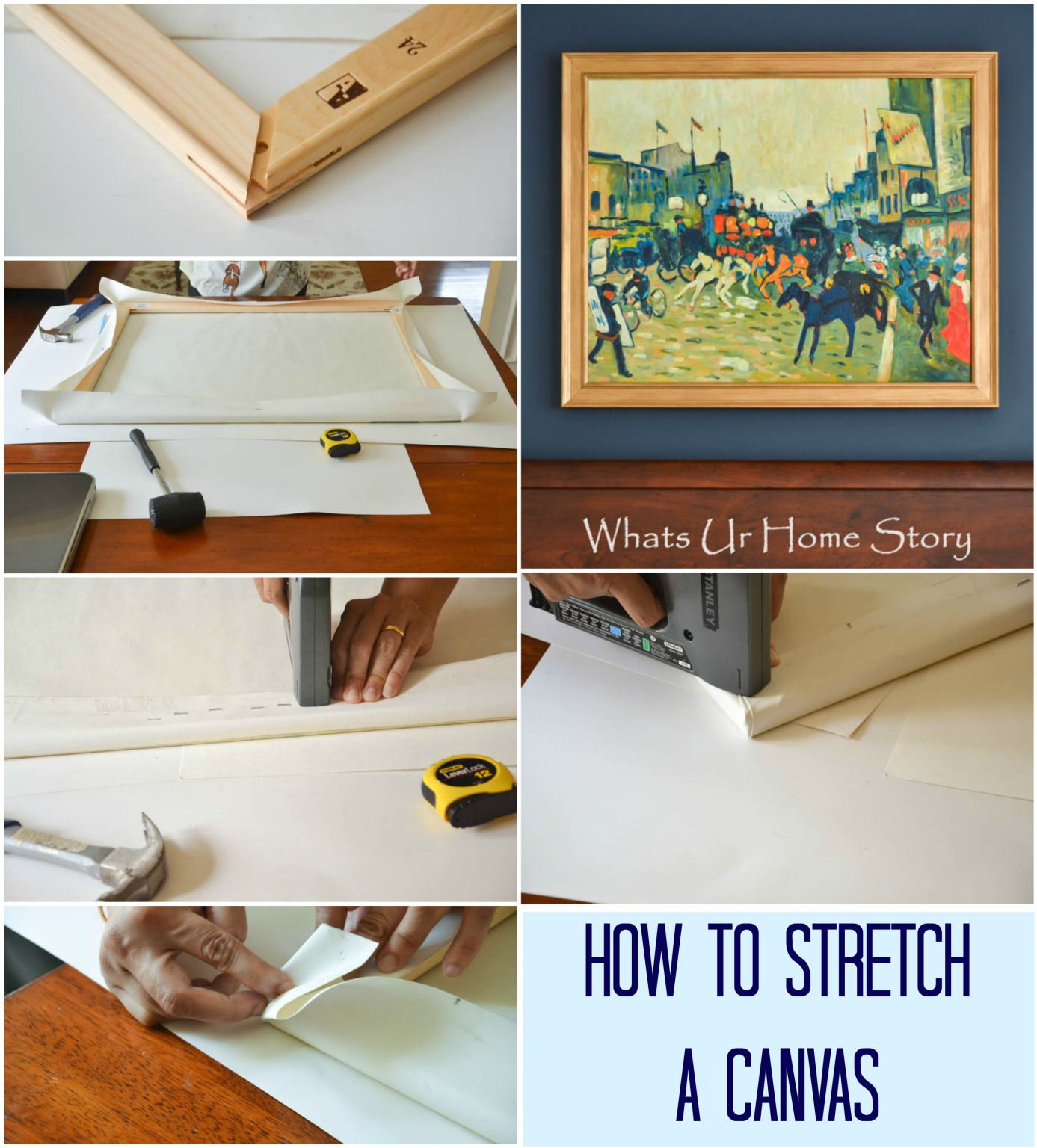 How to Stretch a Canvas Canvas, Art, Canvas art