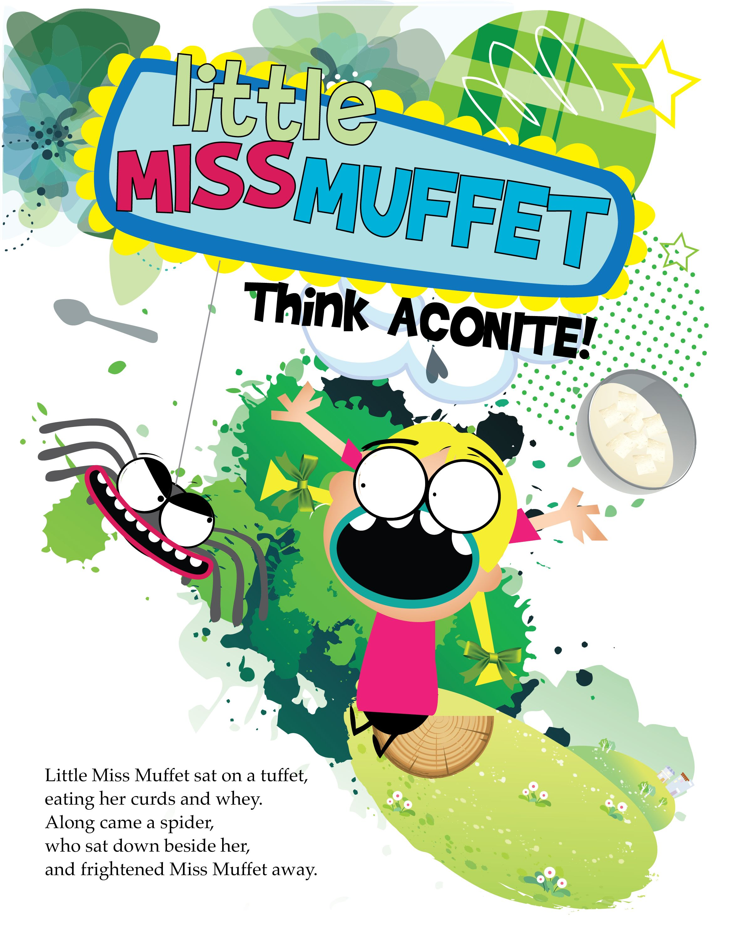 Little Miss Muffet Illustration Created For The Book