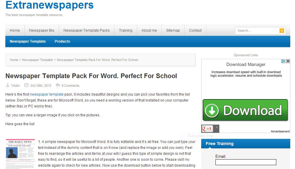School Newspaper Template Pack For Word Teaching With Tech