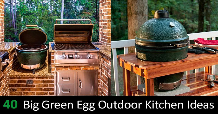 Pin By Lori Goats On Home Building And Decor Ideas Big Green Egg Outdoor Kitchen Outdoor Kitchen Outdoor