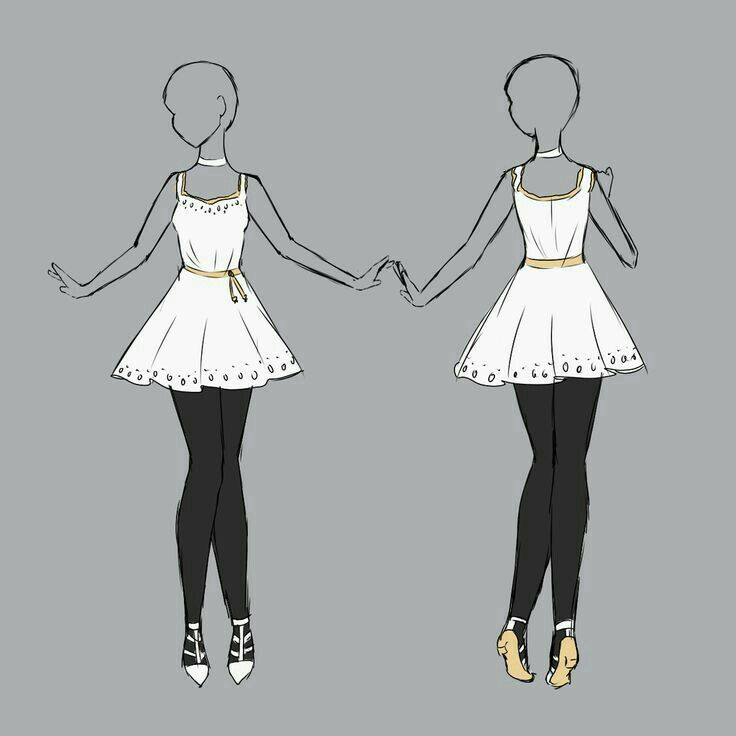 VESTIDO 7 | Outfits | Pinterest | Drawings Anime And Anime Outfits